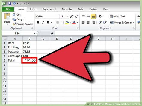 Make Excel Spreadsheet by How To Make A Spreadsheet In Excel 14 Steps With Pictures
