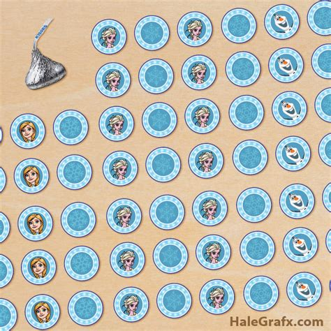 free printable frozen hershey s kisses stickers