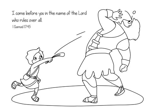 david and goliath coloring pages for toddlers david and goliath pictures to print free clipart