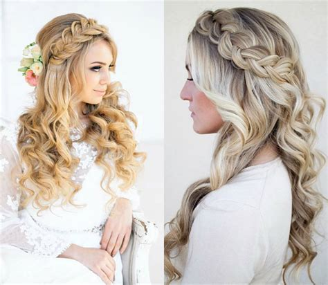 Wedding Hairstyles Half Up Half Down With Braid And Veil | classy choice of half up and half down wedding hairstyles