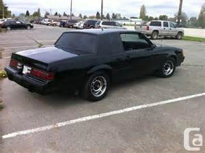1986 Buick Regal Grand National For Sale 1986 Buick Regal Grand National Look A Like Ladner For