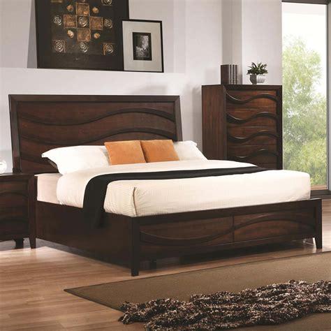 java bedroom set coaster loncar bedroom collection java oak 203101 bed