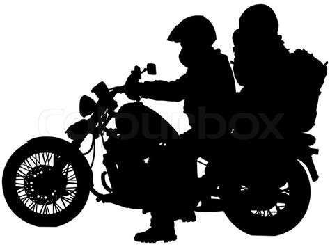 motorcycle  bikers silhouettes  white background abstract art illustration stock