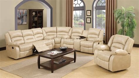 bonded leather sectional sofa with recliners 9243 reclining sectional sofa in bonded leather w
