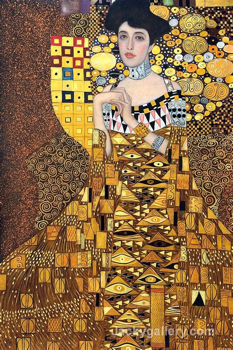 La Klimt portrait of adele bloch bauer by gustav klimt paintings