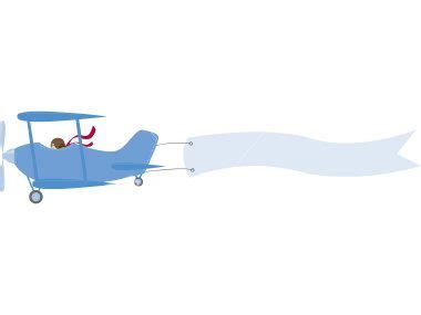 Airplane With Banner Png Theveliger Airplane Banner Template