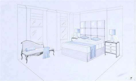 perspective drawing of bedroom bedroom perspective drawing living room two point