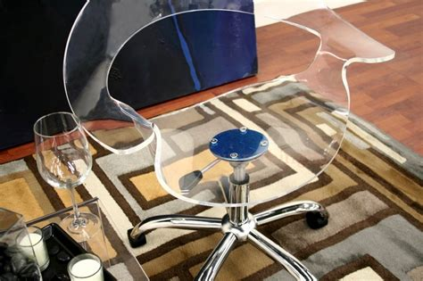 Ghost Desk Chair transparent acrylic chrome rolling adjustable ghost swivel office desk chair ebay