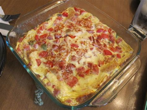 egg strata overnight egg and cheese strata recipe dishmaps