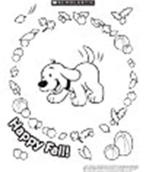 clifford autumn coloring pages scholastic canada reading club programs activities