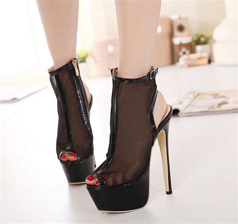 2015 newly high heels side zip black pumps see