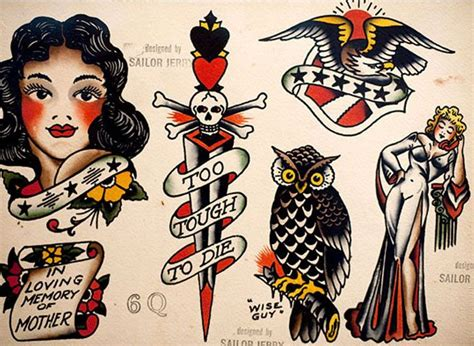 wise guys tattoo sailor jerry school flash tattoos