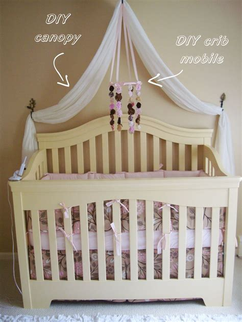 drapes for cribs leahs nursery diy canopy 2 white curtains from target