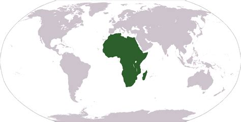 africa map location geography of africa