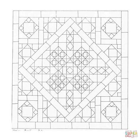 mandalas cuadrados dibujo de mandala geom 233 trico cuadrados para colorear