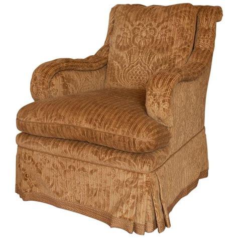david easton gaufrage velvet club chair for sale at 1stdibs