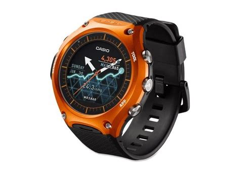 Rugged Smartwatch by Rugged Casio Wsd F10 Android Wear Now Available For