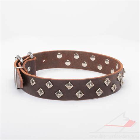 Leather Studded Leather Studded Collar Handmade Collar Pyramids