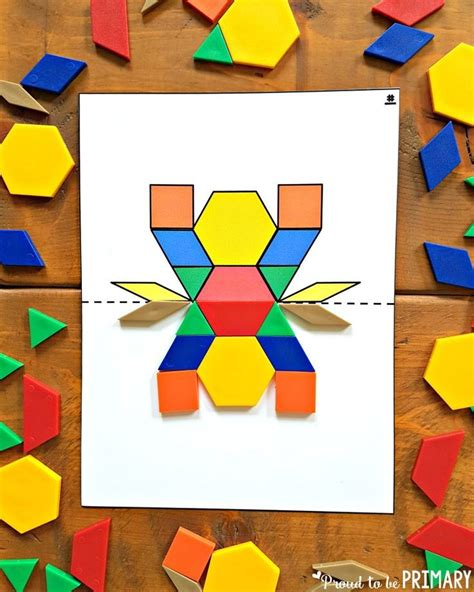 Pattern Block Symmetry Activities | geometry and shapes activities for kids symmetry