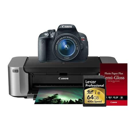 canon deals deals canon t5i sl1 w printer bundles for 399 at