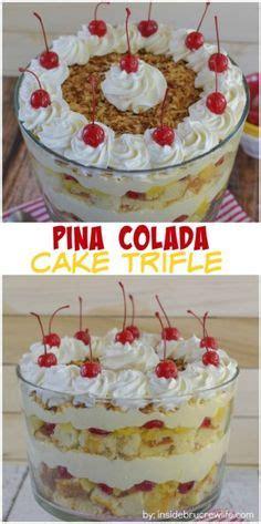 layered trifle fancy fruit dessert yummy stuff
