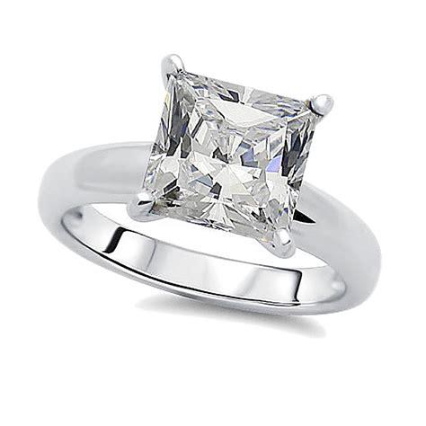 8 5mm rhodium plated silver wedding ring princess cz