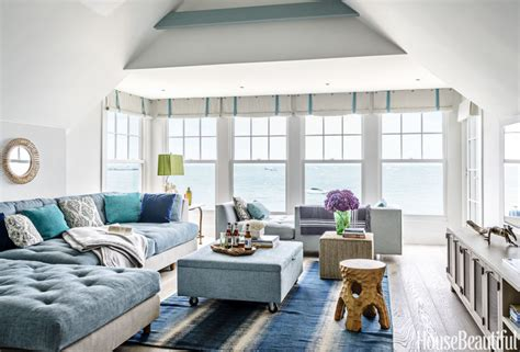 Sitting Room Color Ideas - home tour tiny nautical beach cottage with modern style