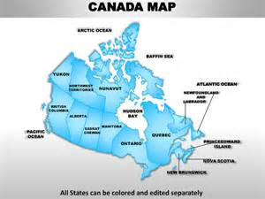editable map of canada canada country editable powerpoint maps with states and