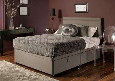 luxury ottoman beds luxury chenille ottoman divan storage bed single double