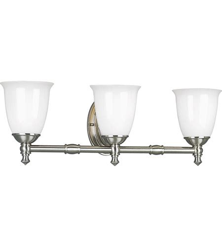 victorian bathroom lighting fixtures progress p3029 09 victorian 3 light 25 inch brushed nickel