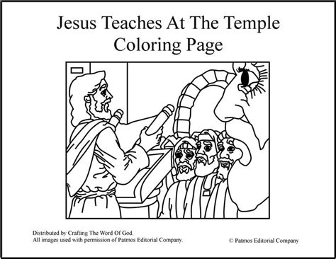 free coloring page jesus in the temple jesus teaches at the temple coloring page 171 crafting the