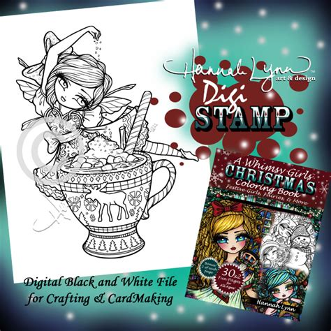 a whimsy girls christmas 168261493x hot cocoa fairy digi st a whimsy girls christmas