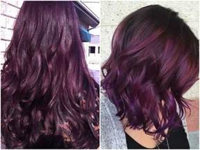 hair color photos 60 burgundy hair color ideas maroon purple plum