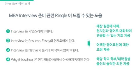 Are Mock Interviews Needed For Mba by Ringle Mba 지원 소개 Resume Mock