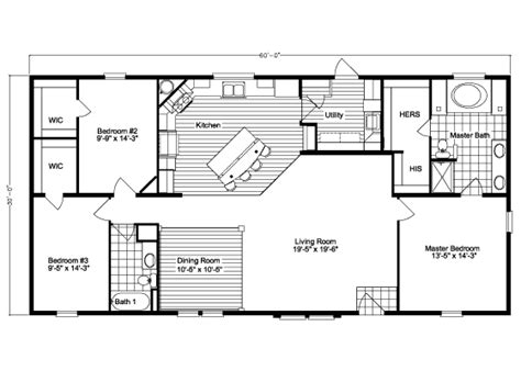 30x60 house floor plans the kennedy hst3606v home floor plan manufactured and or