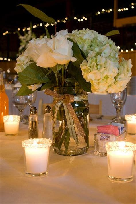 jar centerpieces 1000 ideas about jar centerpieces on lace jars country wedding