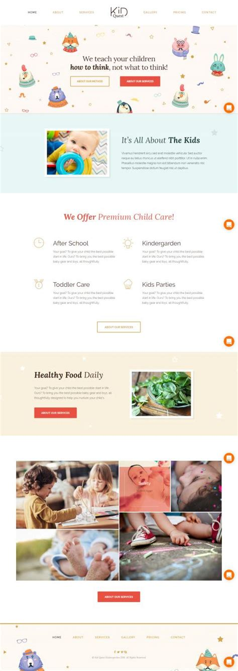 wordpress free themes quest themefuse kid quest review kindergarten theme truth