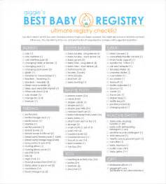 baby registry checklist templates 12 free word excel