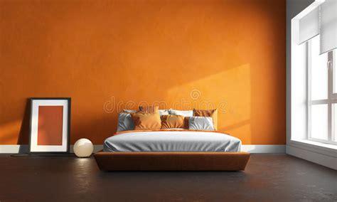 da letto arancione da letto arancione fotografia stock immagine di