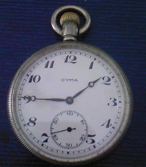 pocket watches cyma swiss pocket ww2 was sold
