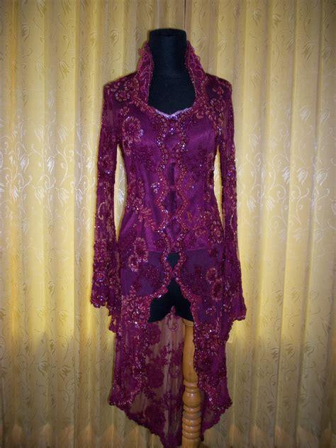 Kebaya New Maroon kebaya pengantin maroon kerah tinggi petirooms