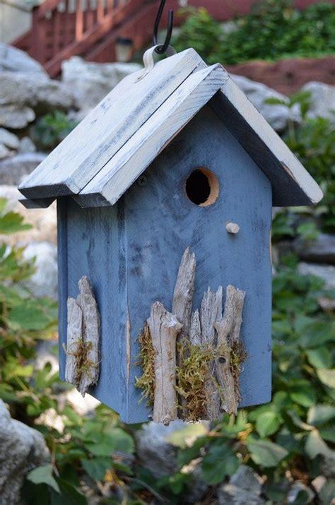 Handmade Bird Houses - rustic birdhouse handmade woodworking driftwood moss