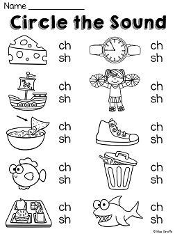 sh pattern words digraphs ch worksheets and activities no prep