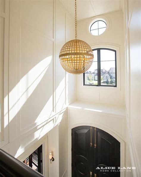 2 Story Foyer Lighting by Jonathan Adler Globo One Light Pendant In Gold