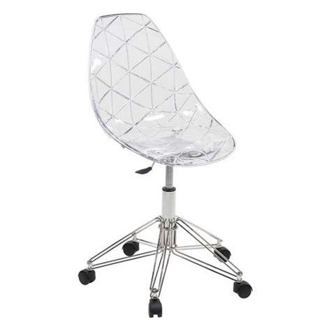 Chaise Design Sur Roulettes Coque Transparente Et M 233 Tal Chaise De Bureau Transparente