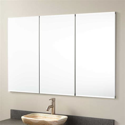 48 Quot Furview Recessed Mount Medicine Cabinet With Mirror Recessed Mirrored Bathroom Cabinets