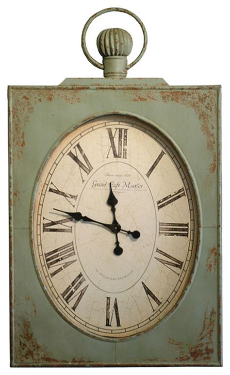 country clock quot country vintage green grand cafe 45 quot quot wall clock