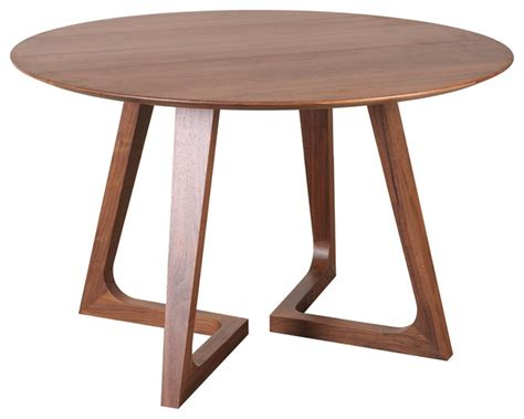 godenza dining table round walnut contemporary dining