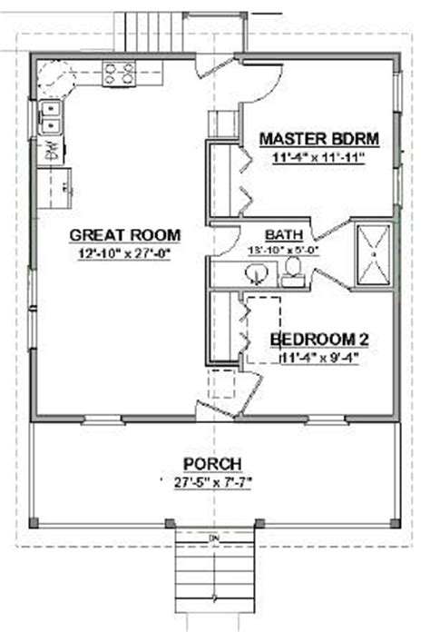 Mother In Law Cottage Floor Plans by Details About Complete House Plans 648 S F Mother In Law