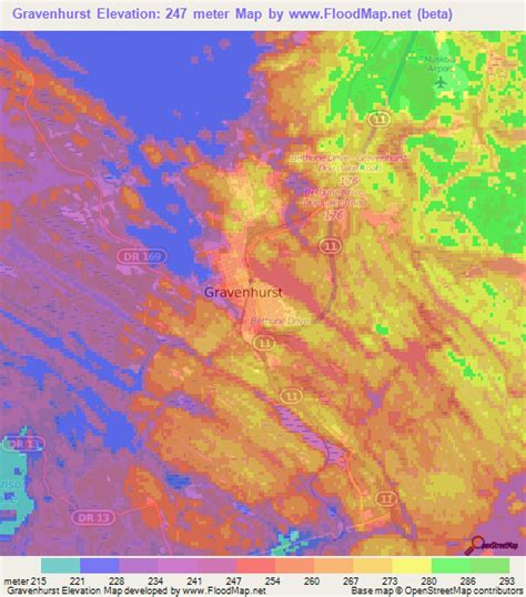 elevation map of usa and canada elevation of gravenhurst canada elevation map topography